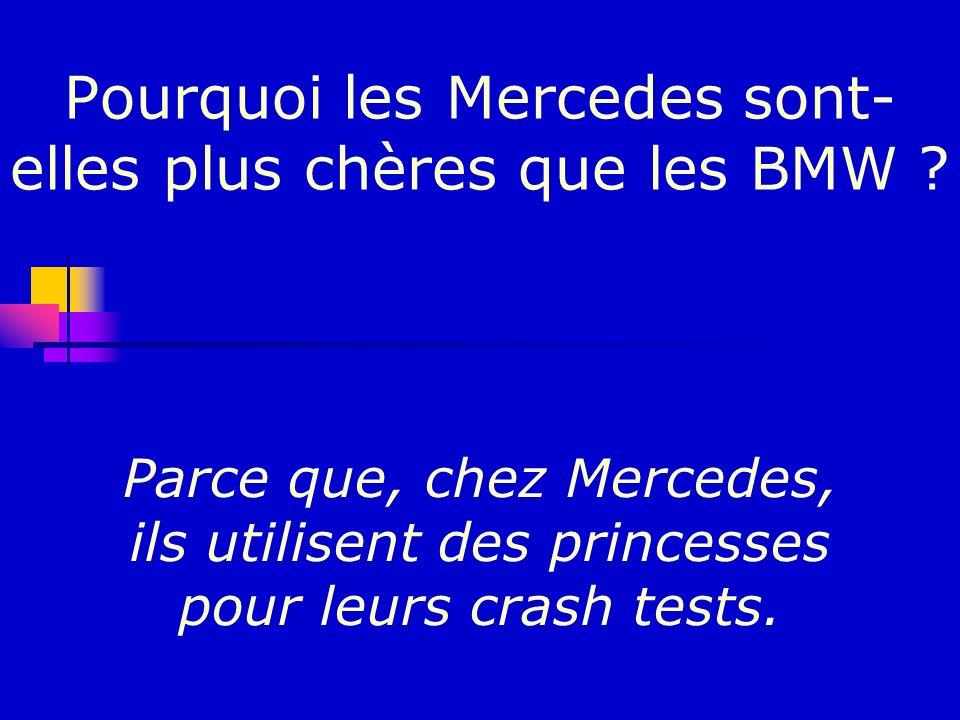 Pourquoi les Mercedes sont-elles plus chères que les BMW