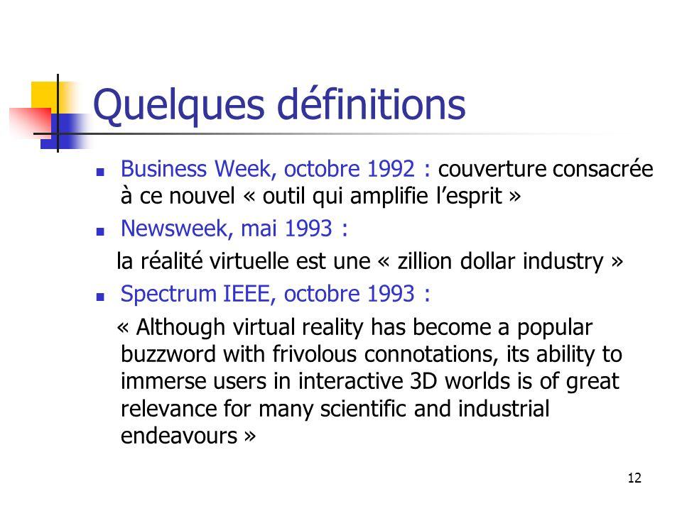 Quelques définitions Business Week, octobre 1992 : couverture consacrée à ce nouvel « outil qui amplifie l'esprit »