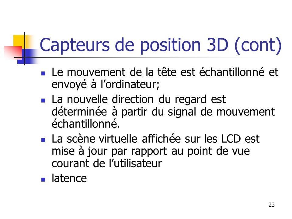 Capteurs de position 3D (cont)