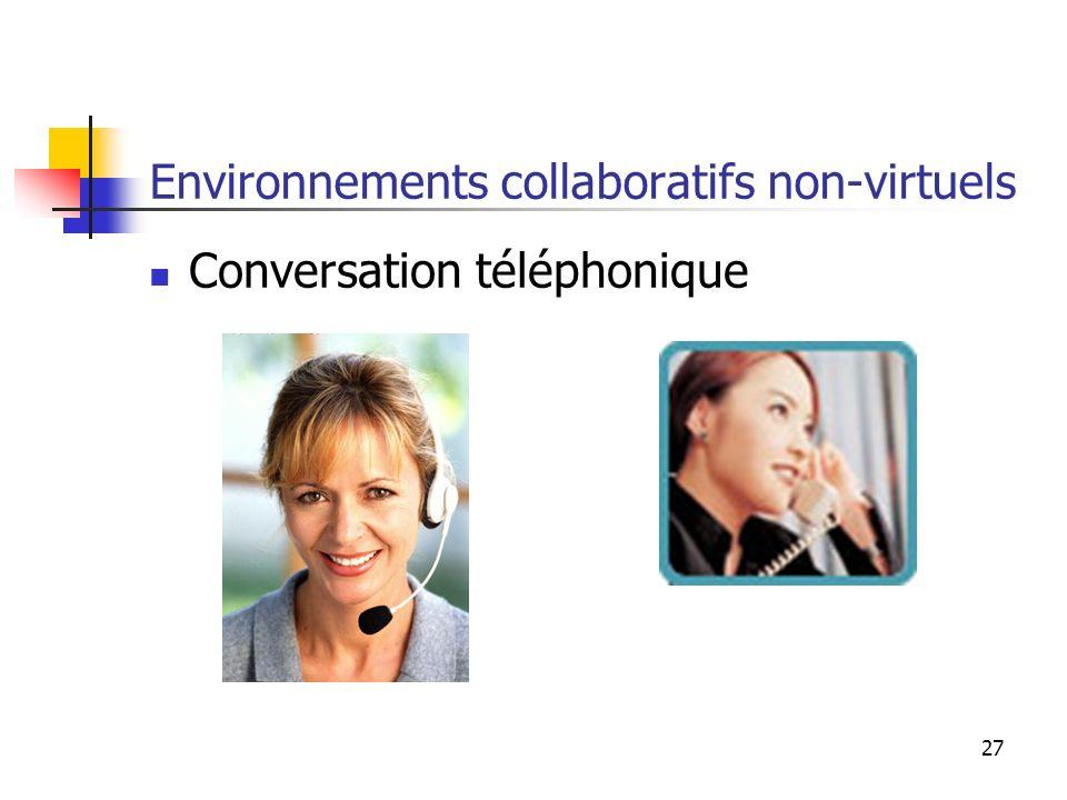 Environnements collaboratifs non-virtuels