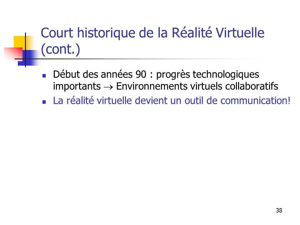 Court historique de la Réalité Virtuelle (cont.)