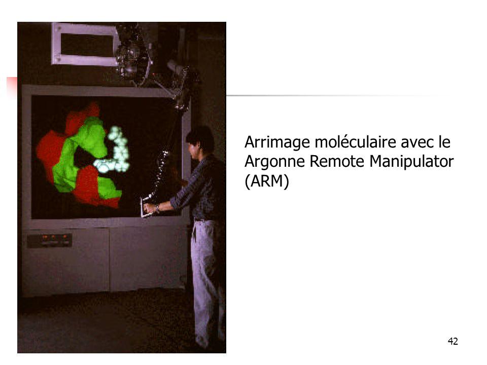 Arrimage moléculaire avec le Argonne Remote Manipulator (ARM)