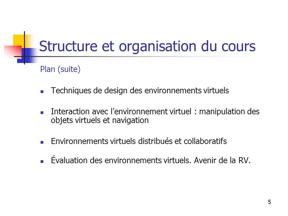 Structure et organisation du cours