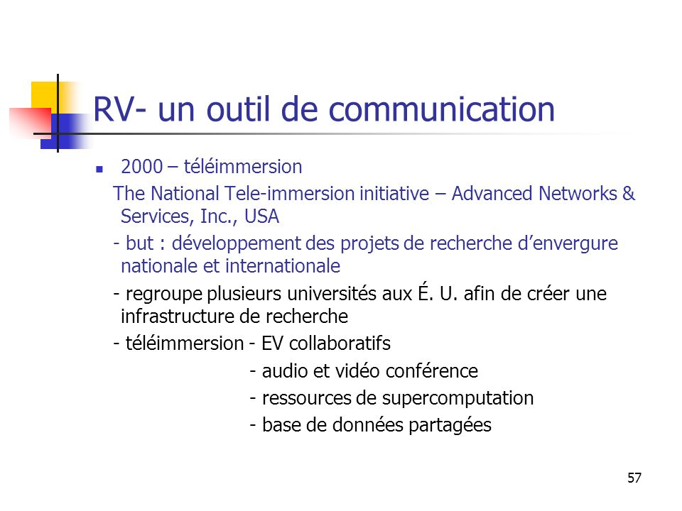 RV- un outil de communication