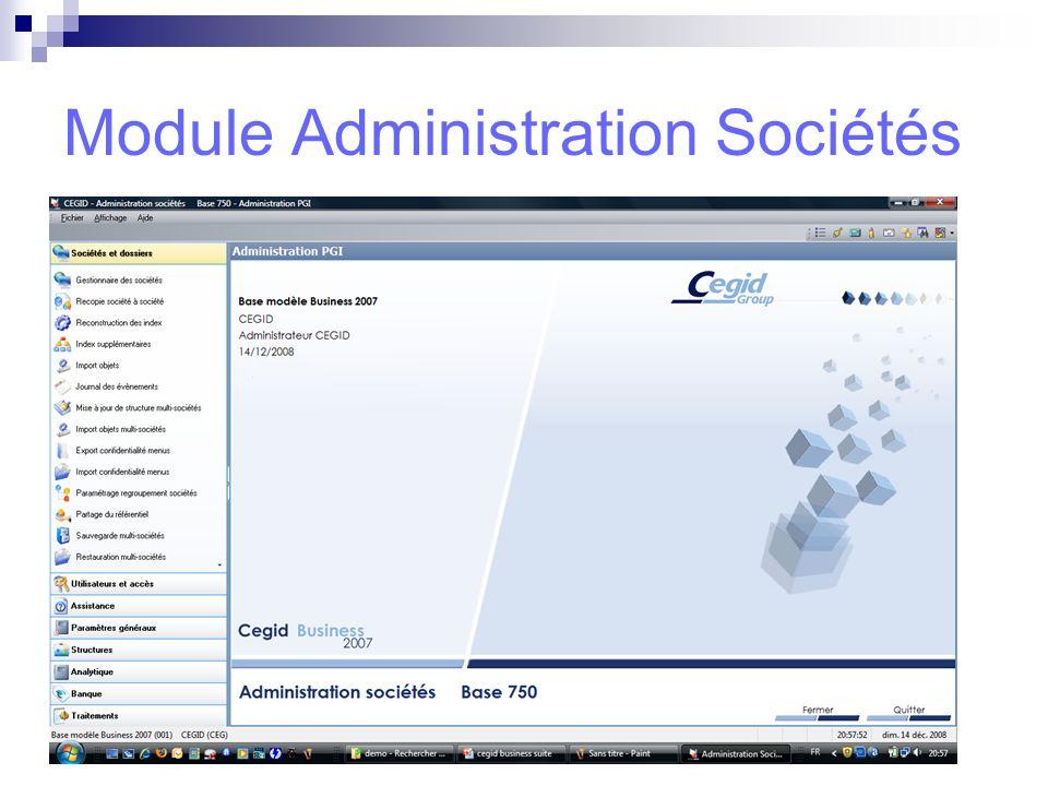 Module Administration Sociétés