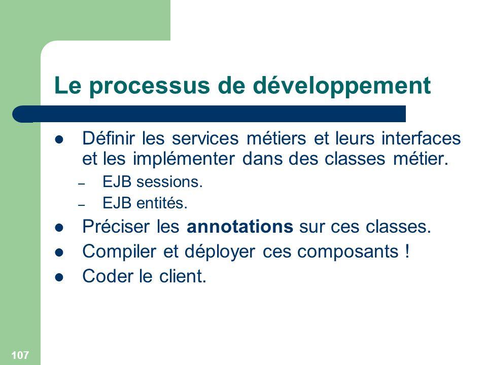 Le processus de développement