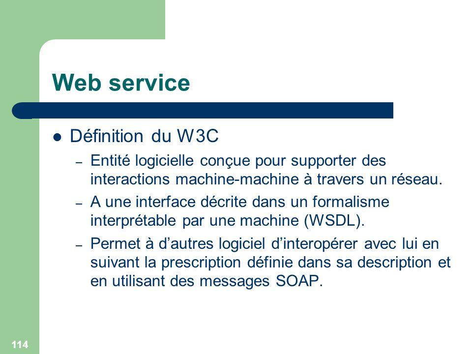 Web service Définition du W3C