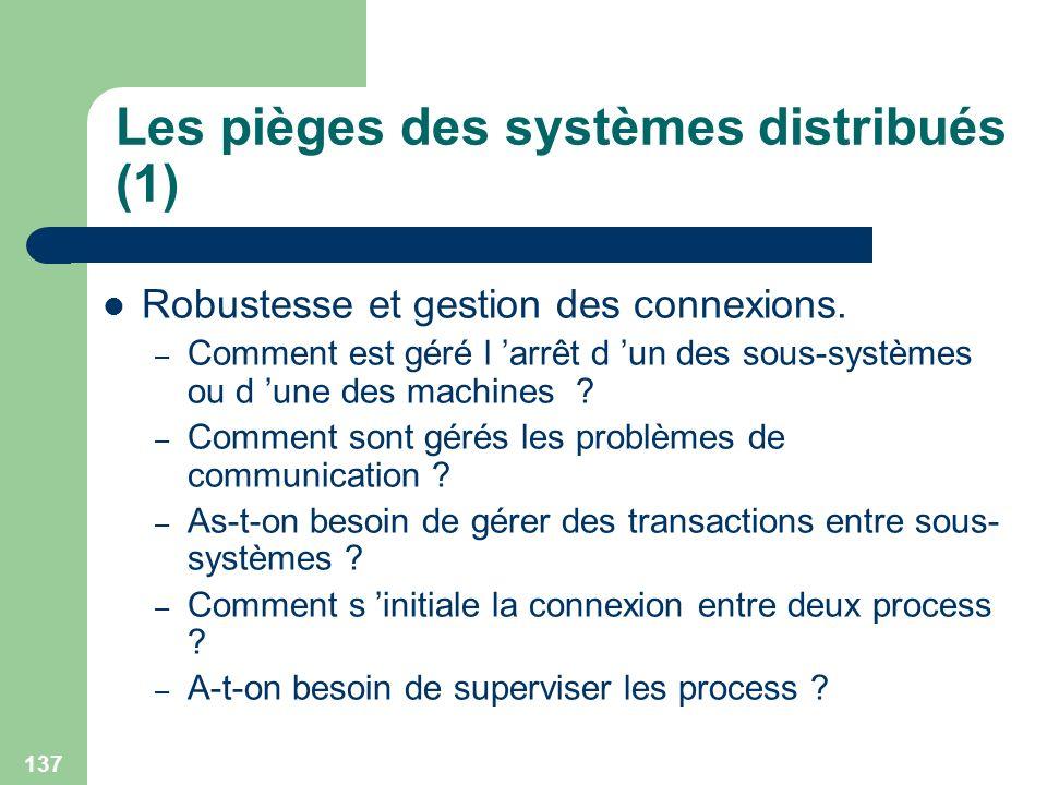 Les pièges des systèmes distribués (1)