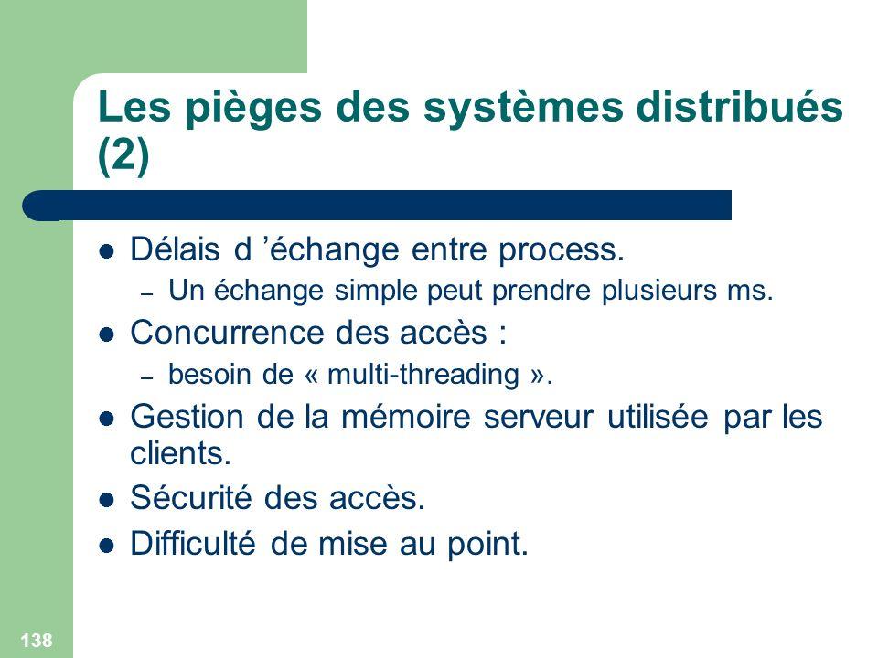 Les pièges des systèmes distribués (2)