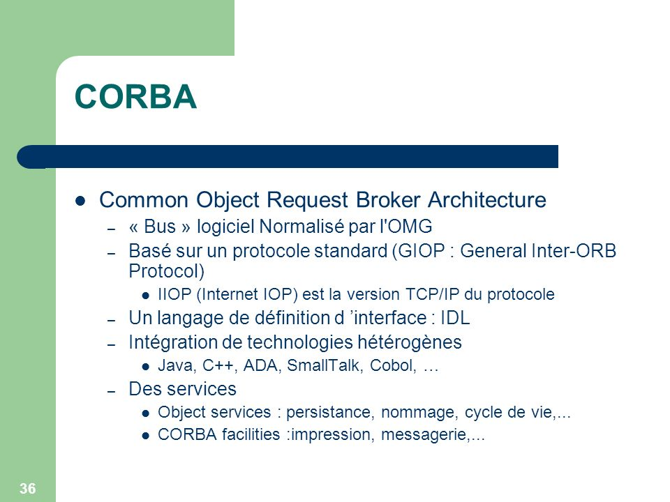 CORBA Common Object Request Broker Architecture
