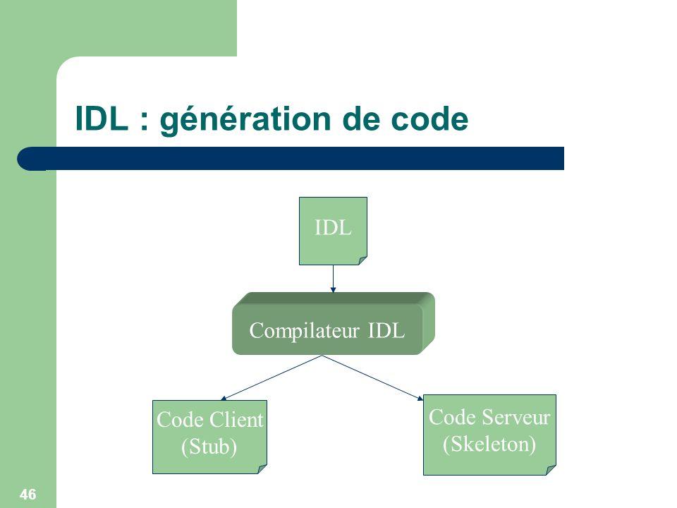 IDL : génération de code