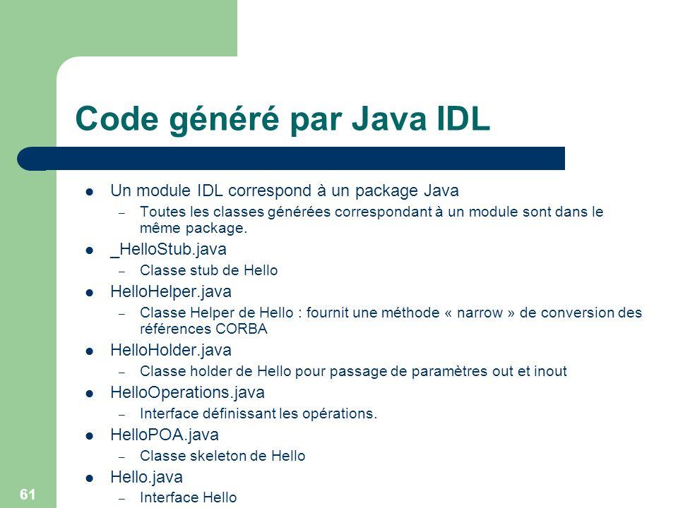 Code généré par Java IDL
