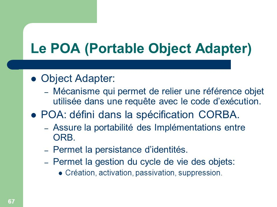 Le POA (Portable Object Adapter)