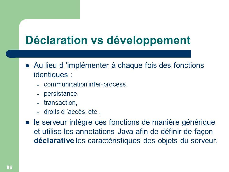 Déclaration vs développement