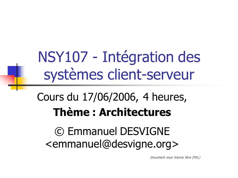 NSY107 - Intégration des systèmes client-serveur