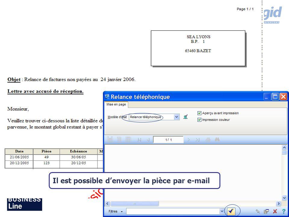 Il est possible d'envoyer la pièce par e-mail