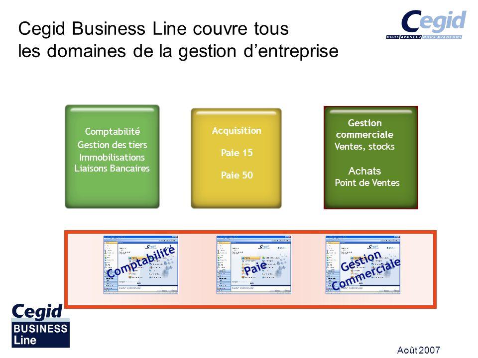 Cegid Business Line couvre tous les domaines de la gestion d'entreprise