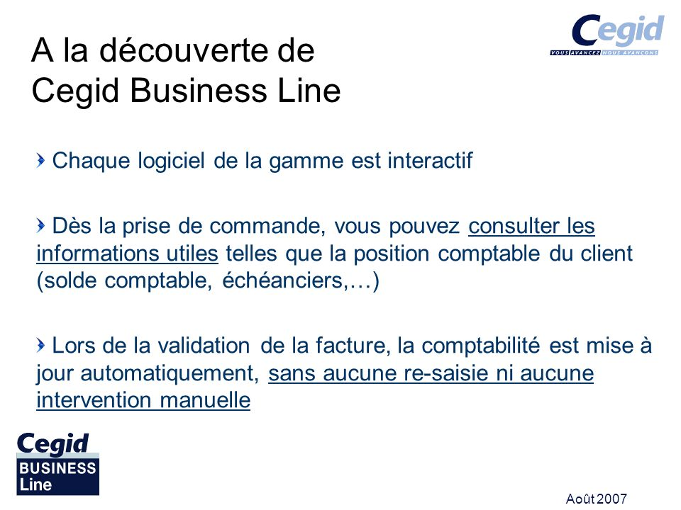 A la découverte de Cegid Business Line
