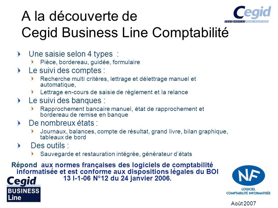 A la découverte de Cegid Business Line Comptabilité