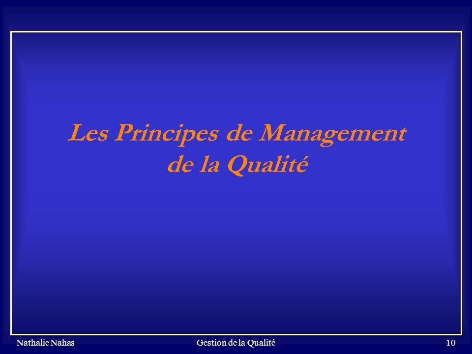 Les Principes de Management de la Qualité