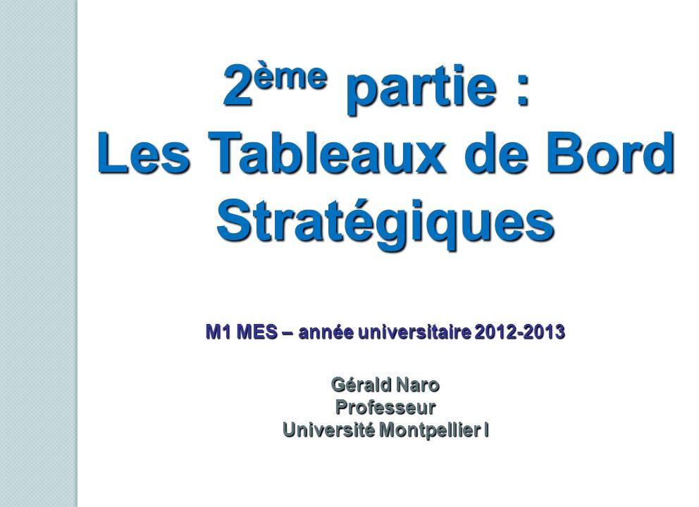M1 MES – année universitaire 2012-2013 Université Montpellier I
