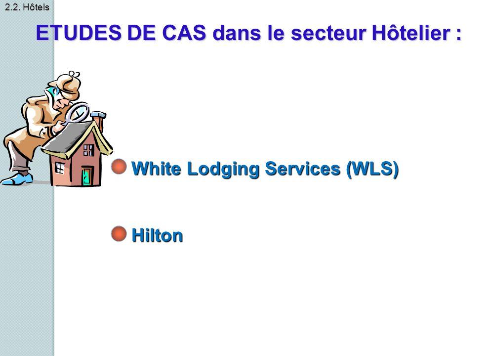 ETUDES DE CAS dans le secteur Hôtelier :