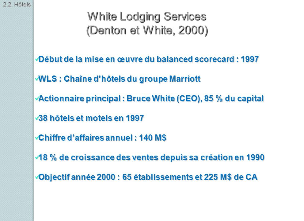 White Lodging Services