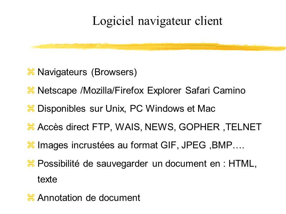 Logiciel navigateur client