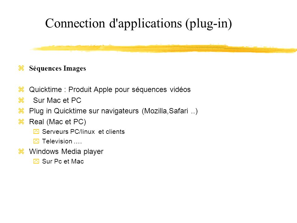 Connection d applications (plug-in)