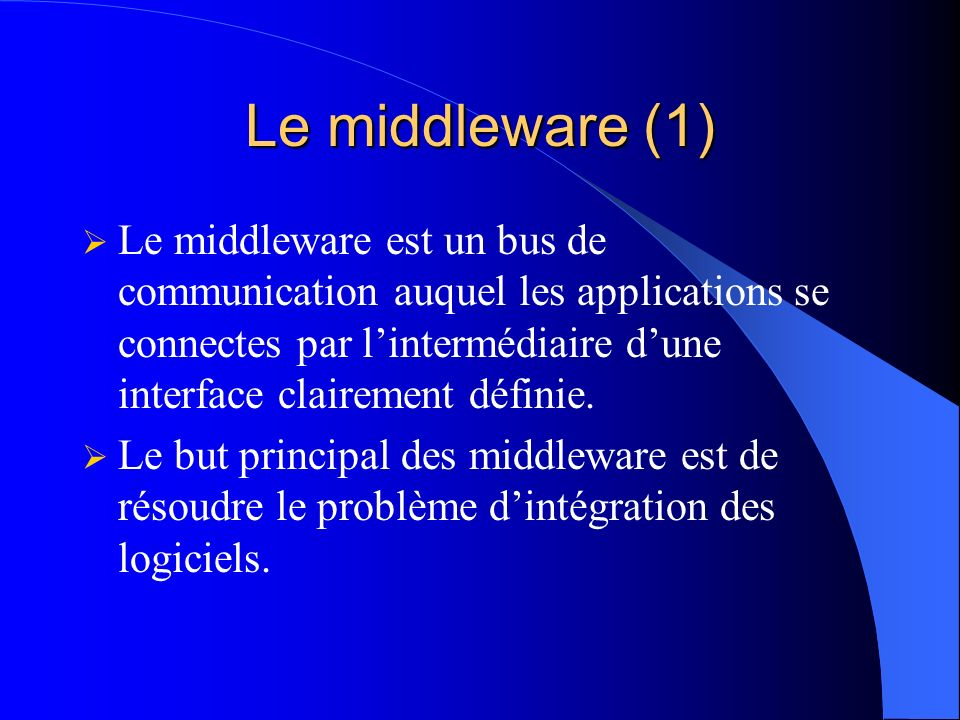 Le middleware (1)