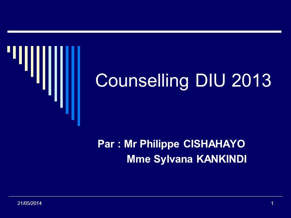 Par : Mr Philippe CISHAHAYO Mme Sylvana KANKINDI