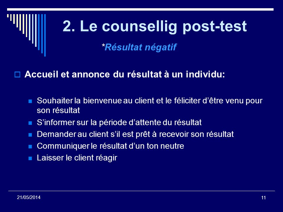 2. Le counsellig post-test