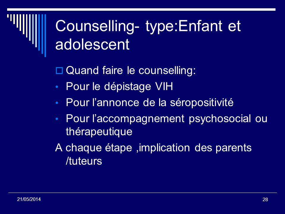Counselling- type:Enfant et adolescent