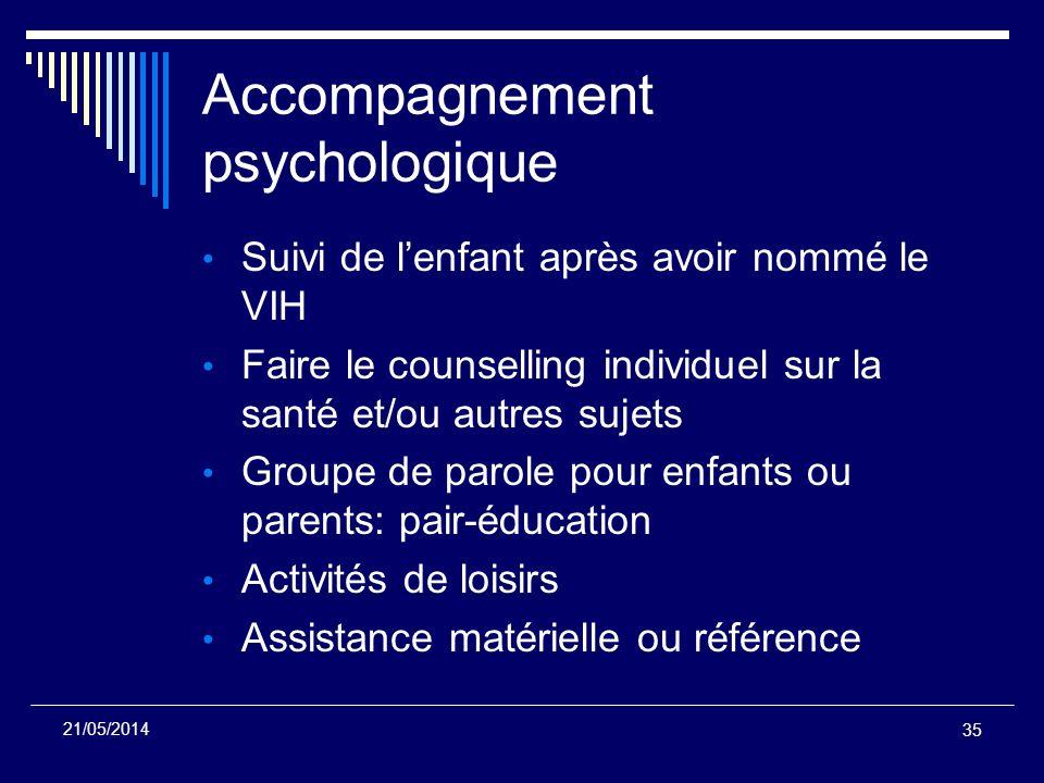Accompagnement psychologique