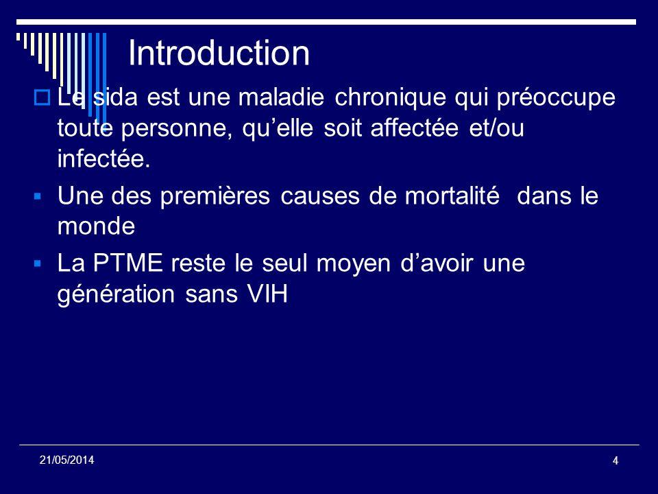 Introduction Le sida est une maladie chronique qui préoccupe toute personne, qu'elle soit affectée et/ou infectée.
