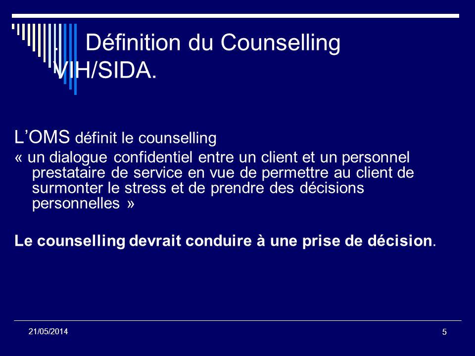 . Définition du Counselling VIH/SIDA.