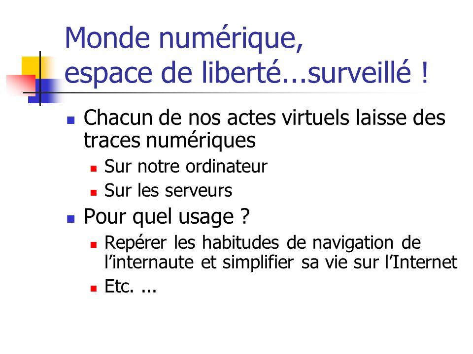 Monde numérique, espace de liberté...surveillé !
