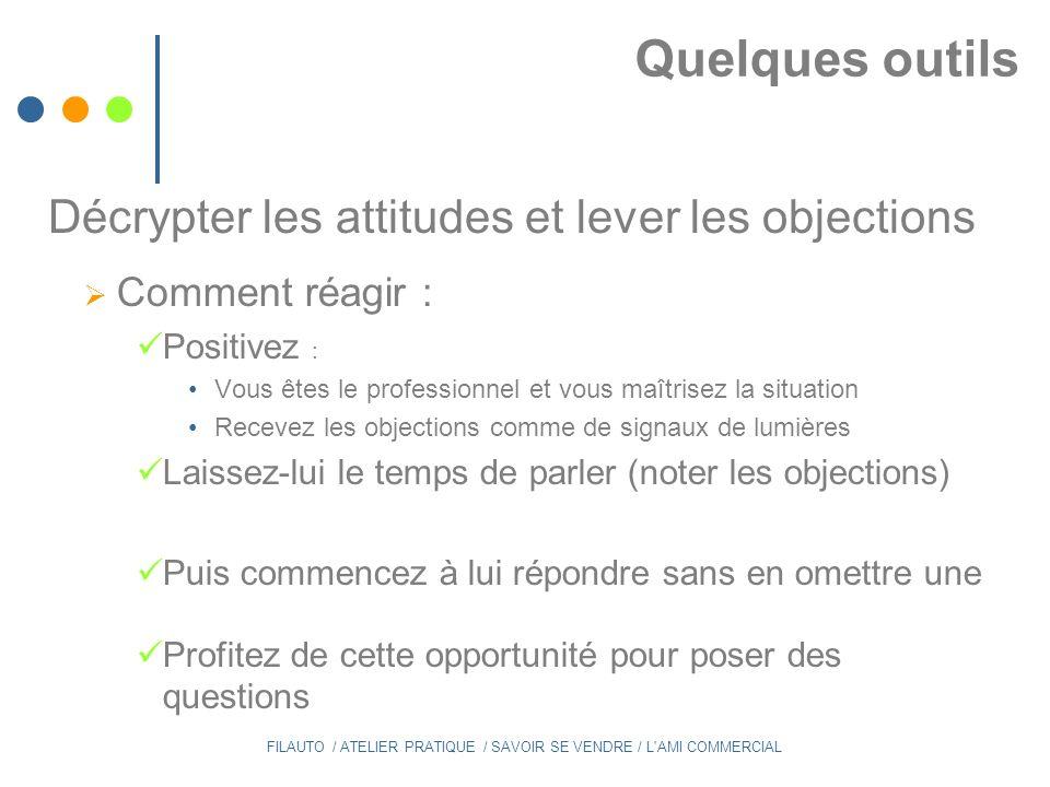 Décrypter les attitudes et lever les objections
