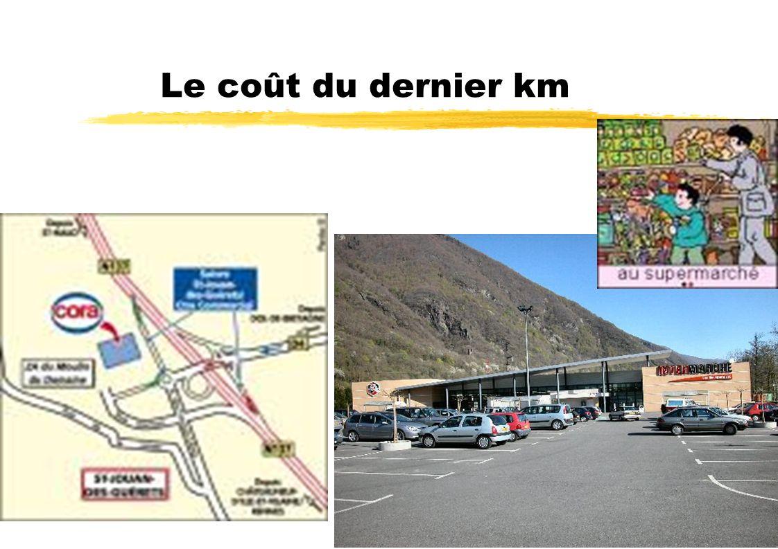 Le coût du dernier km Le dernier kilomètre coûte 5 fois plus cher que les autres kilomètres