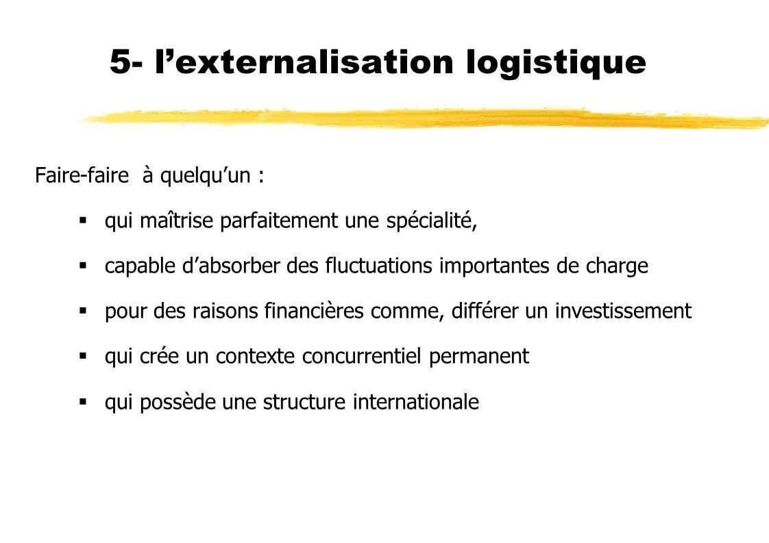 5- l'externalisation logistique