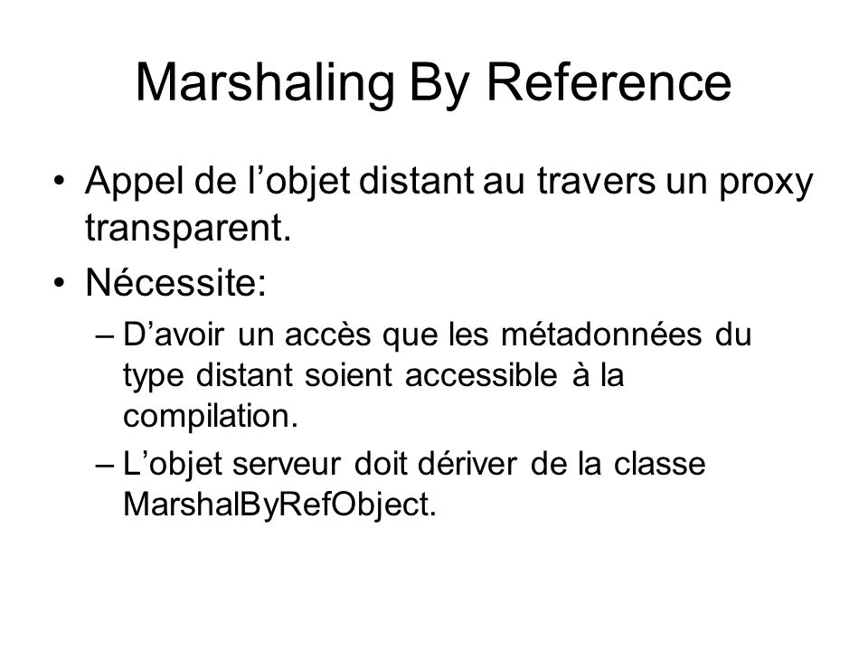 Marshaling By Reference