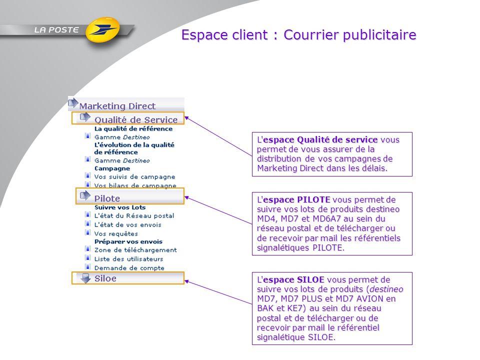 Espace client : Courrier publicitaire