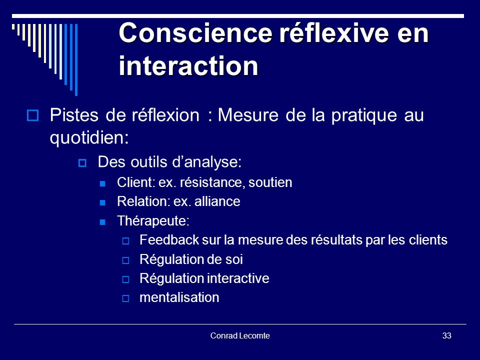 Conscience réflexive en interaction