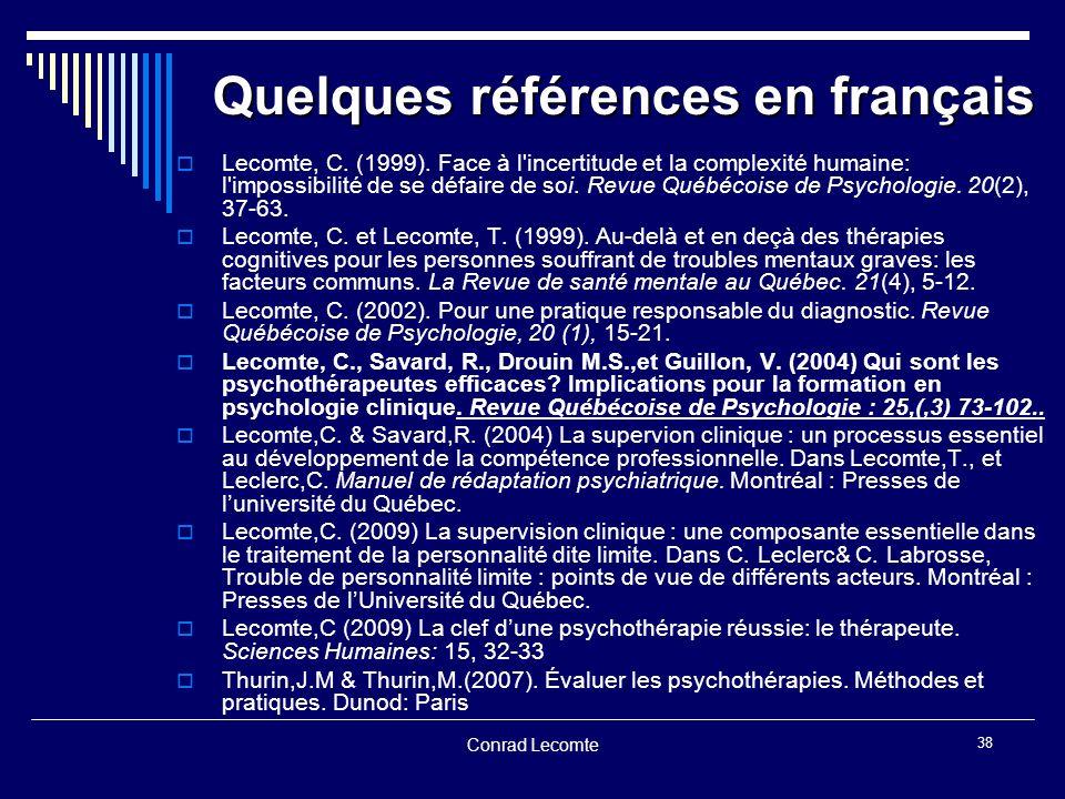 Quelques références en français