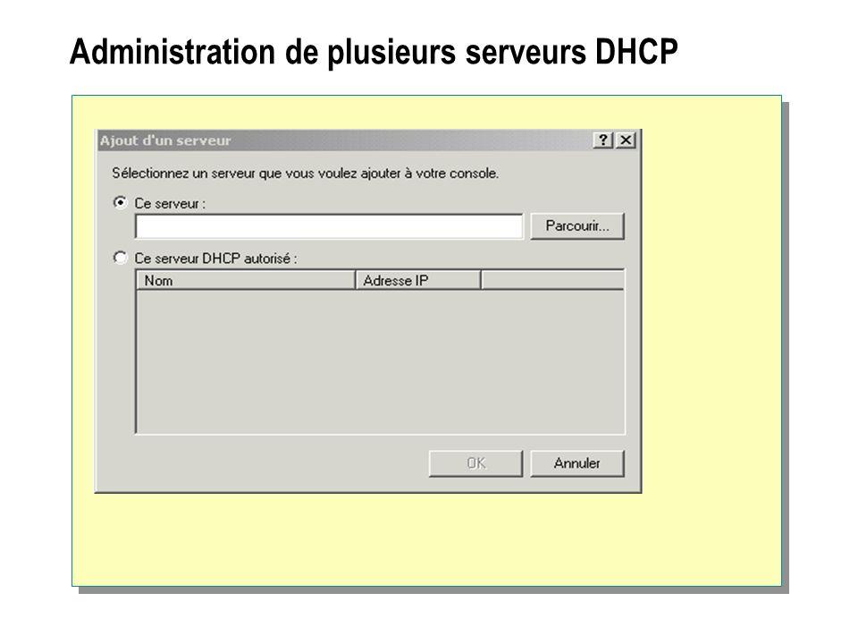 Administration de plusieurs serveurs DHCP