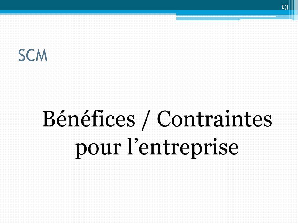 Bénéfices / Contraintes