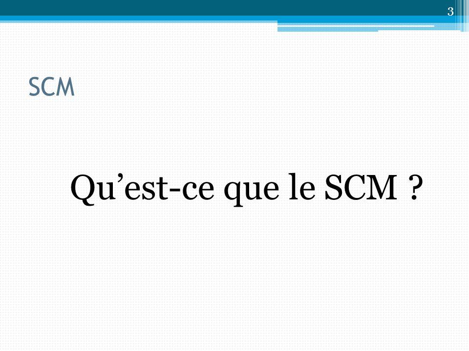 SCM Qu'est-ce que le SCM