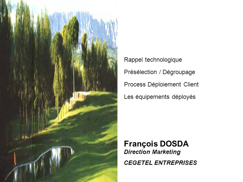 François DOSDA Direction Marketing