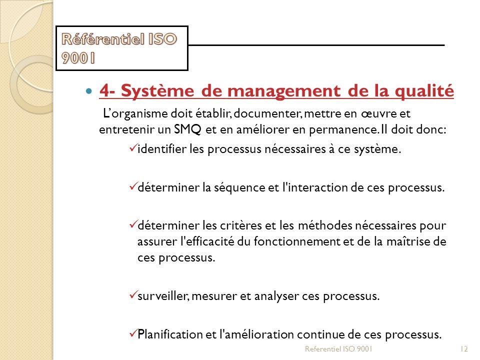4- Système de management de la qualité