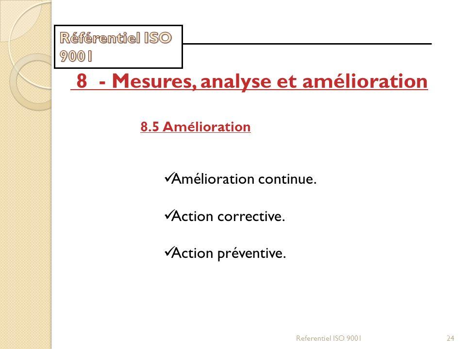 8 - Mesures, analyse et amélioration